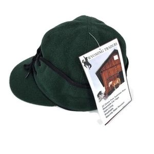 WYOMING TRADERS FOREST GREEN 100% PURE WOOL HAT NWT